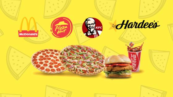 Mcdonalds kfc pizza hut hardees