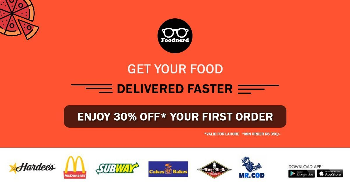 Foodnerd food delivery app lahore
